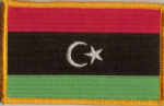 Libya Embroidered Flag Patch, style 08.